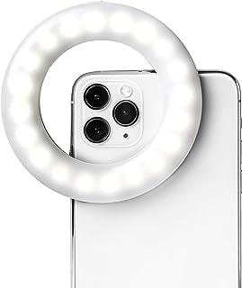 LITTIL セルフィーワン - 充電式リングライト クリップオン iPhone Android タブレット ノートパソコン カメラ 写真 ビデオ撮影用 | 3つの調節可能なライトモード | ビューティー&インフルエンサー セルフィーリングライト