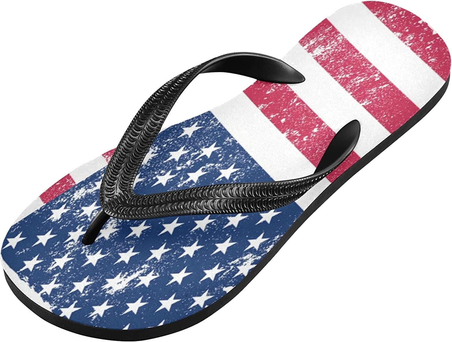 Qilmy Vintage American Flag Flip Non-sli Flop 4 years warranty Dealing full price reduction Lightweight Casual