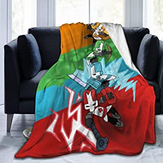 Castle-Fire-Knight Ultra-Soft Micro Fleece Blanket Throw Fuzzy Lightweight Hypoallergenic Plush Bed Couch Living Room