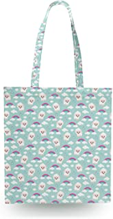 Counting Sheep Canvas Tote Bag - Zipper Canvas Tote Bag