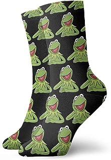 Yuanmeiju, calcetines de punto Kermit The Frog Face Women Men Socks Dress Hose Novelty Winter Thick Unisex Crew Warm Long Socks for Sports for Hoodies T Shirt Tank Tops Sweatshirt