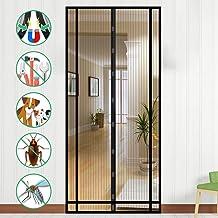 NASUM Magnetisch vliegengaas, balkondeur, vliegengordijn, magneetgordijn, deur 100 cm x 220 cm, insectenbescherming, deurg...