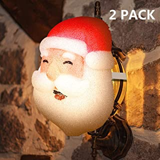 MAOYUE 2 Pack Porch Light Covers Outdoor Christmas Decorations Christmas Holiday Santa Light Covers Outdoor Porch Light Décor