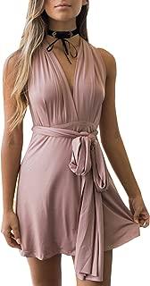 Women Convertible Wrap Multiway Bandage Mini Dress Party