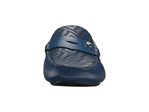 Collection en Greca de Mocasín Versace Azul conducción relieve F8cdHvHPqw