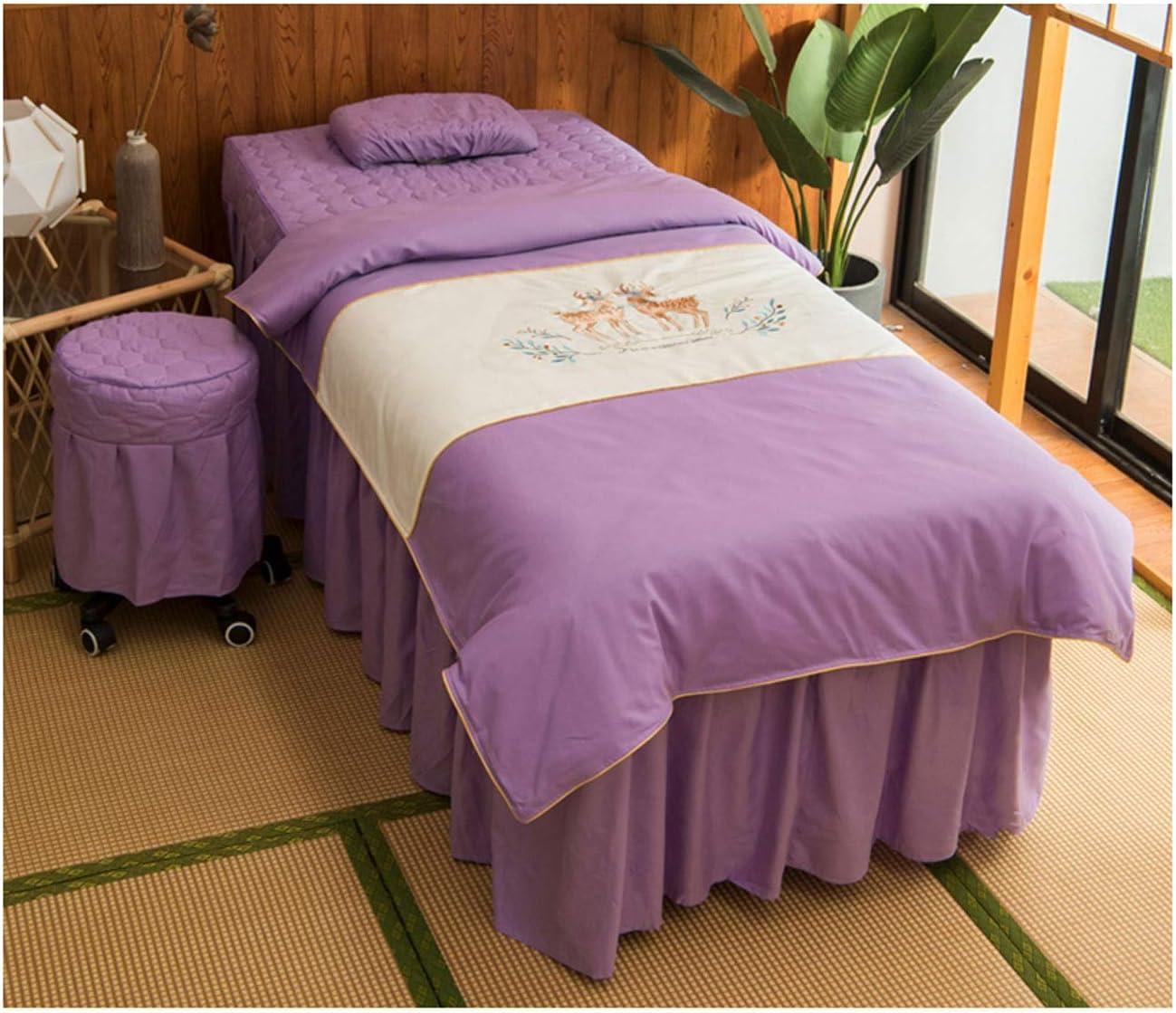 4-Piece Microfiber Massage Classic Table Sheet Max 47% OFF Bedspread Fo - Set Beauty