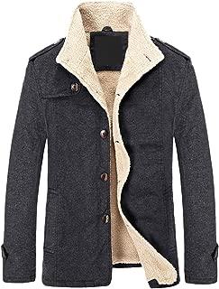 chouyatou Men's Winter Stylish Button Front Sherpa Lined Cotton Trucker Jackets