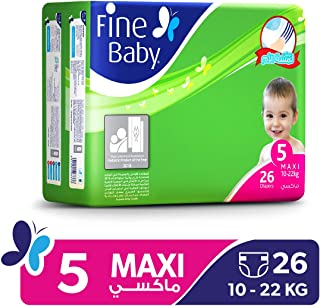 Fine Baby Super Dry - Smart Lock, Maxi 10-22 Kgs, Economy Pack, 26 Count