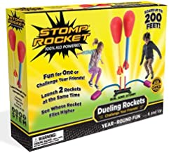 Stomp Rocket Dueling Rockets, 4 Rockets and Rocket Launcher - Outdoor Rocket Toy Gift for Boys and Girls Ages 6 Years and Up - Great for Outdoor Play with Friends in The Backyard and Parks