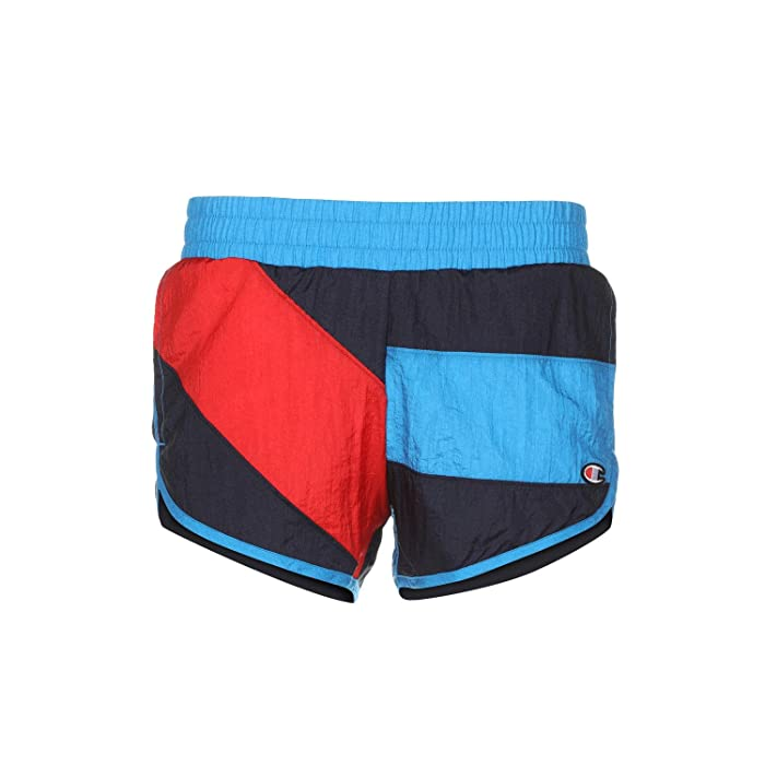 Vintage Shorts, Culottes,  Capris History Champion LIFE Color Block Crinkle Shorts Hero Multi Womens Shorts $33.75 AT vintagedancer.com