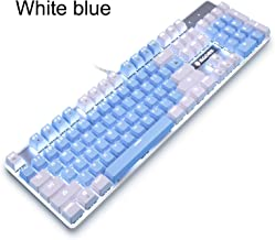 Mechanical Gaming Keyboard,SADES Gaming Keyboard USB Keyboards Mechanical Feel with Mutilmedia Keys Character Illuminated and Blue Switches for for PC Gamer