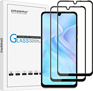 (2 Pack) Orzero Tempered Glass Screen Protector Compatible for Huawei (P30 Lite) (Full Adhesive), 2.5D Arc Edges 9 Hardness HD Anti-Scratch Full-Coverage (Lifetime Replacement Warranty)
