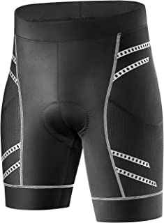 INBIKE Men's Cycling Shorts 3D Padded Breathable Bicycle Half Pants Reflective Tights for Road Bike
