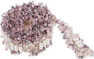 comprar comparacion B Blesiya 1 Yarda Precioso Encaje para Coser Decorativo Encaje de Costura Accesorios y Manualidades - Rosa Gris