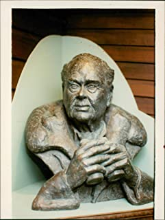 Vintage photo of A bust of Sir Peter Scott was unvieled on Wednesday.