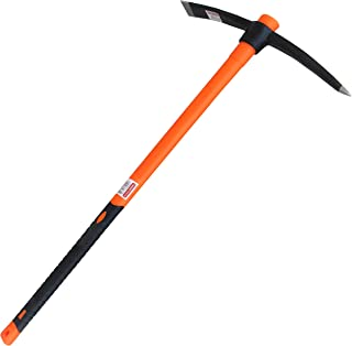TABOR TOOLS Pick Mattock with Fiberglass Handle, Garden Pick, Great for Loosening Soil, Archaeological Projects, and Cultivating Vegetable Gardens or Flower Beds. J56A. (Large 35 Inch)