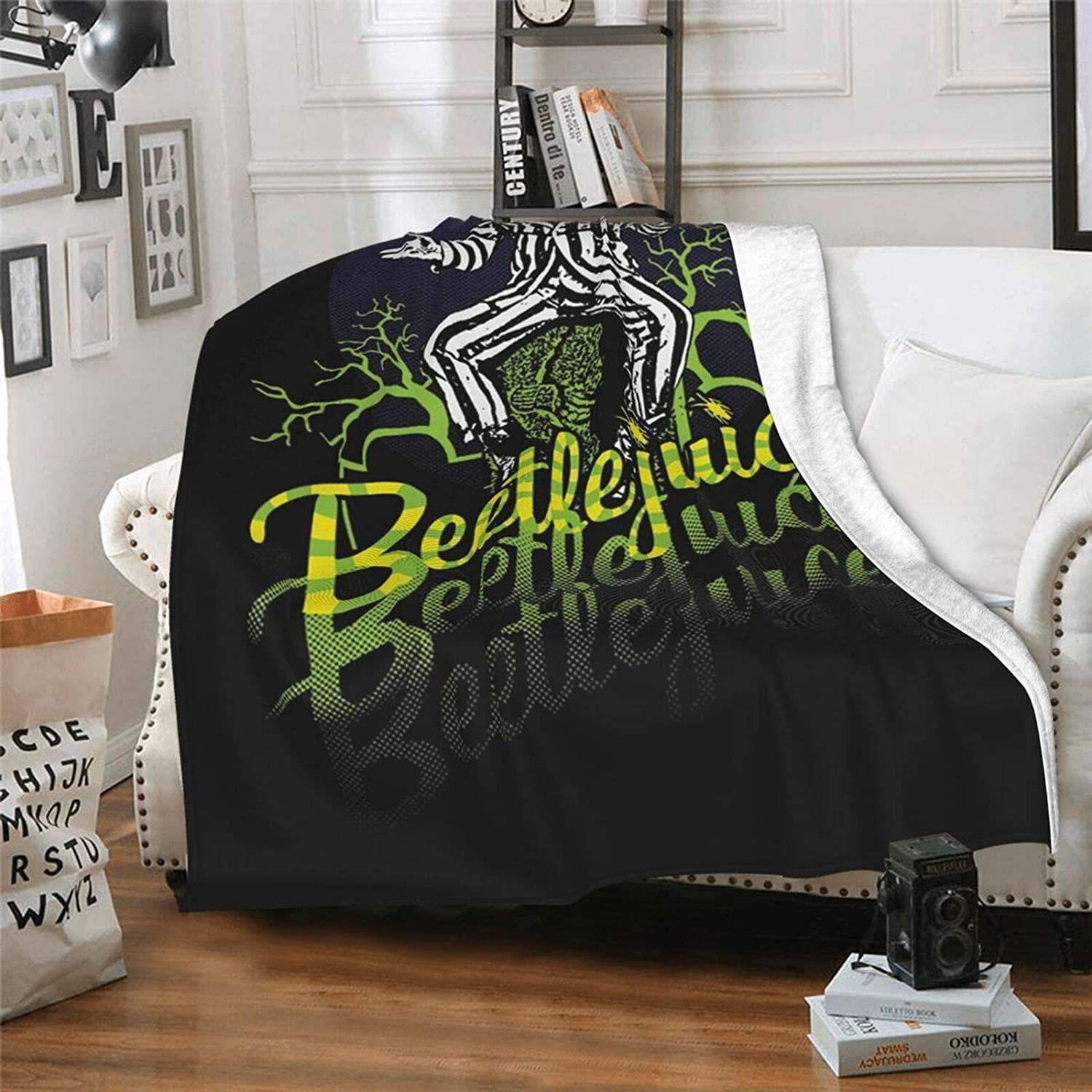 RexMillena Micro Beetlejuice Blanket Cheap mail order shopping Ultra-Soft All stores are sold Lightweight Fun