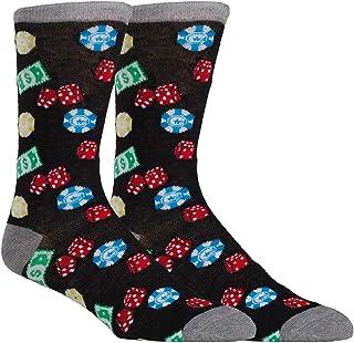Zoo York Men's Novelty Casual Dress Socks, Crazy Casino Vegas Poker Socks for Men, Fun Sock for Men, Bachelor Party Gift