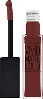 Maybelline Color Sensational Vivid Matte Liquid - 37 Coffee Buzz - Lipstick barra de labios Marrón Mate - Barras de labios...