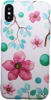 Fashion flowers slim edge cover for Iphone X/ Xs