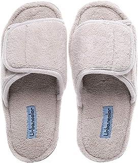 Women Indoor Memory Foam Adjustabale Slippers Non-Slip Indoor Washable Slipper