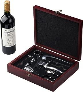 Cooko Wine Opener Set,Manual Wine Bottle Opener Kit with Aerator, Zinc Alloy Handle Corkscrew ,Deluxe Wine Opener Accessories with 9 Pieces