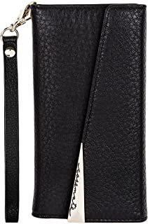 Case-Mate iPhone 8 Plus Case - WRISTLET FOLIO - Premium Pebbled Leather - Protective Design for Apple iPhone 8 Plus - Black