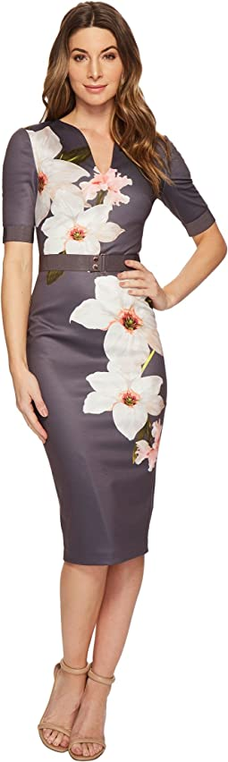 Ted Baker - Bisslee 3/4 Length Sleeve Bodycon Dress