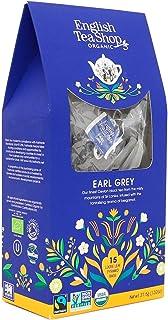 English Tea Shop Tè Nero Biologico Earl Grey Aromatizzato al Bergamotto in Eco-Box - 1 x 15 Piramidi di Tè 37.5 Grammi