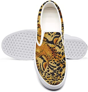 Animal Print Leopard Texture Camouflage Sneaker Shoes for Women Classic Shock Absorption Comfortable Walking Shoes
