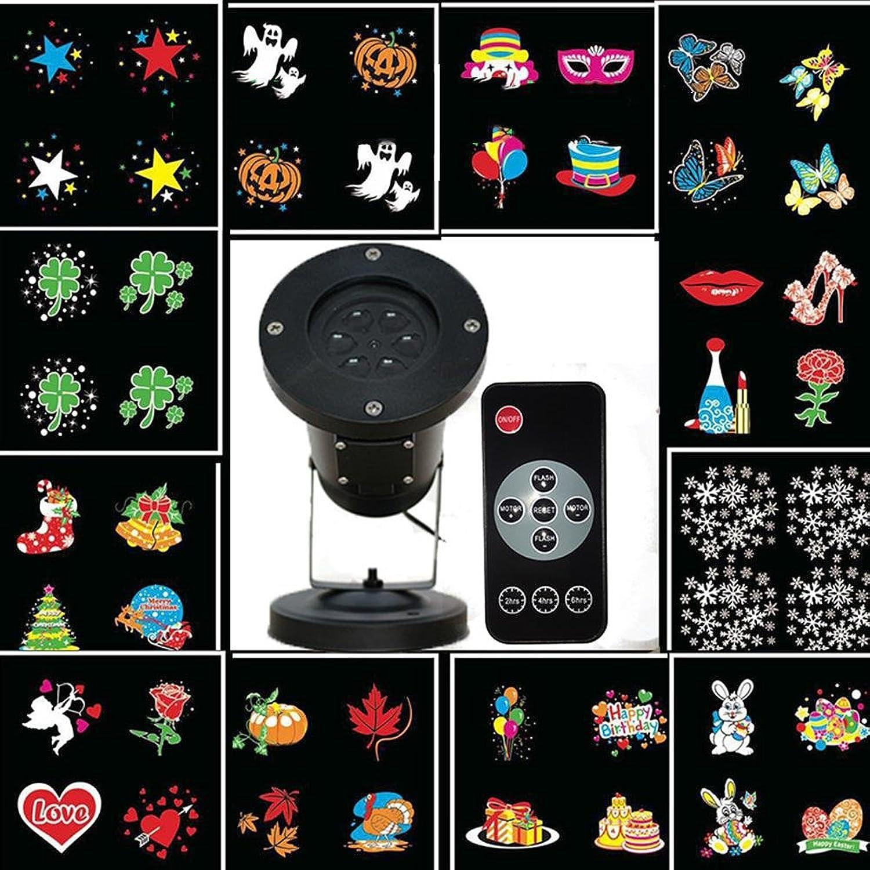 OOFAY LIGHT LED Projektionslampe 12 Muster leuchtet Karte im freien wasserdichte Lichter mit Fernbedienung Rasen Weihnachtsdekoration Lichter