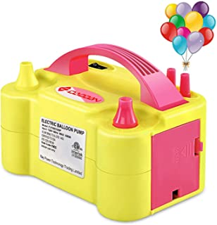 IDAODAN Portable Dual Nozzle Red Rose Electric Air Balloon Pump Filler rInflator/Blower for Party Decoration 110V 600W Air Pump
