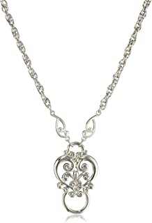1928 Jewelry Heart Eyeglass Holder Pendant Necklace, 28