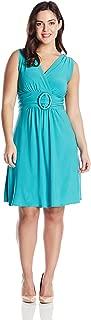Women's Plus-Size Sleeveless O-Ring Dress