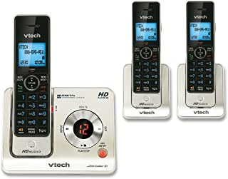 VTech LS6425-3 DECT 6.0 Expandable Cordless Phone with Answering System and Caller ID/Call Waiting, Silver with 3 Handsets