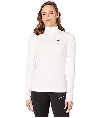 Nike Pro Warm Top 1/2 Zip (White/Black) Women
