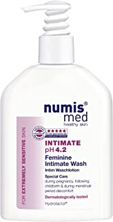 Intimate Hygiene Cleanser Imported From Germany pH 4.2 Dermatologist Tested - Soap Free Paraben Free Vegan Clinically Tested For Extremely Sensitive Skin 200 ml by Numis Med Sensitive®