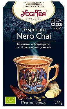 Yogi Tea Infusión de Hierbas Chai Negro - 17 bolsitas