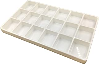 N'icePackaging 1 Qty - Heavy Duty Beach-Stone White Plastic 18 Compartment Tray - for Storage/Organization/Display/Sales/S...