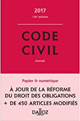 Code civil 2017 - 116e éd. Broché
