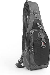 LC Prime Sling Bag, RFID Blocking Tiny Compact Shoulder Bag, for Men Women Travel Gym Sport Hiking (Nylon, Black)