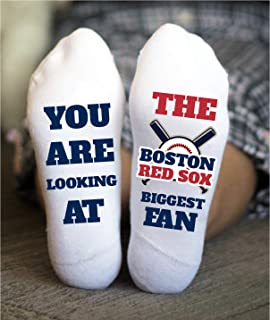 Boston Red Sox Socks Funny Birthday Gift Baseball Fan Game