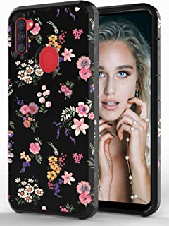 ShinyMax Galaxy A11 Case with Flowers Design,Samsung A11 Phone Case,Hybrid Dual Layer Armor Protective Cover Cute Flexible...