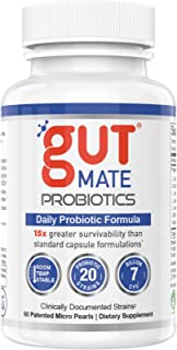Gut Mate® Probiotics - Clinically documented Strains - 15x More Effective Than Standard Capsules- Patented BIO-Tract® Micr...