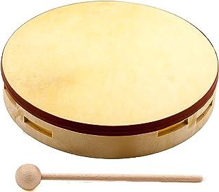 Nino Percussion NINO43 8 Pandero de madera con parche natural