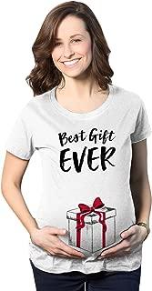 Maternity Pregnancy Tshirt Cute Present Box Bow Tee