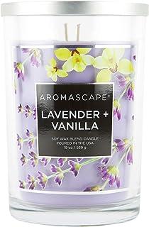 Aromascape 2-Wick Scented Jar Candle, Lavender & Vanilla, 19-Ounce, Purple
