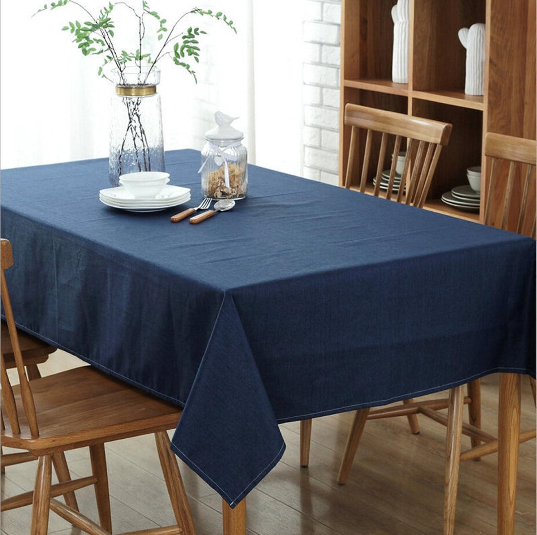 todos los bienes son especiales Manteles De Algodón Algodón Algodón THUNFER Manteles De Algodón Impermeables Uso Del Hotel Manteles De Tela Manteles De Navidad Manteles De Navidad,azul-51.2103.9in  la calidad primero los consumidores primero