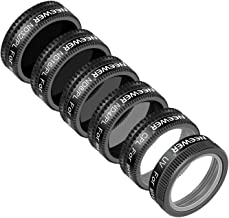 Neewer DJI Mavic Air Filter Kit - 6 Pieces, UV, CPL, ND4/PL, ND8/PL, ND16/PL and ND32/PL Filter, Made of Optical Glass and Aluminum Alloy Frame (Black)