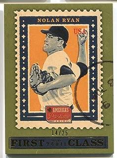Nolan Ryan #FC1 2013 Panini America's Pastime GOLD #4/25 Baseball Trading Card